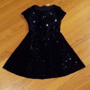Zara Girls Blue Sequin Dress Size 10
